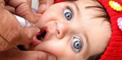 Pulse polio drops to children.