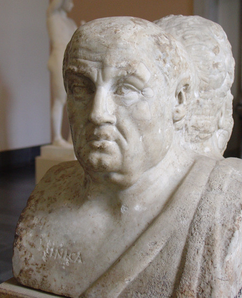 Ancient bust of Lucius Annaeus Seneca. Seneca offered some great gems of wisdom in connection to setting goals.