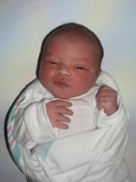 Ayden's newborn baby picture