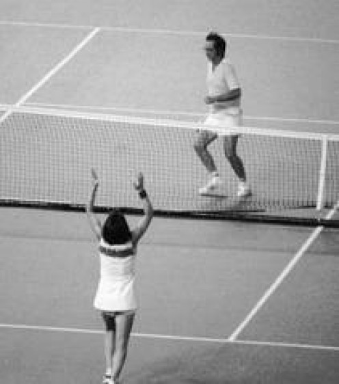 Billie Jean King proved that winning a tennis match isn't about being male or female it's about perfecting your craft.