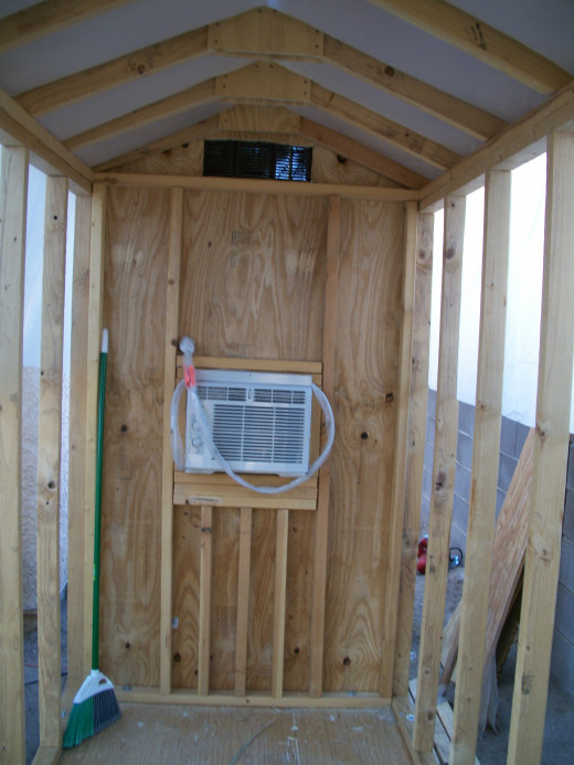 After the vent and AC were installed in rear wall