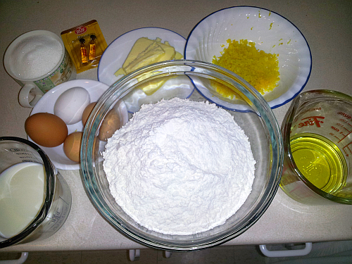 Ingredients for Cozonac
