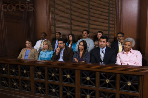 A typical jury in 2014.