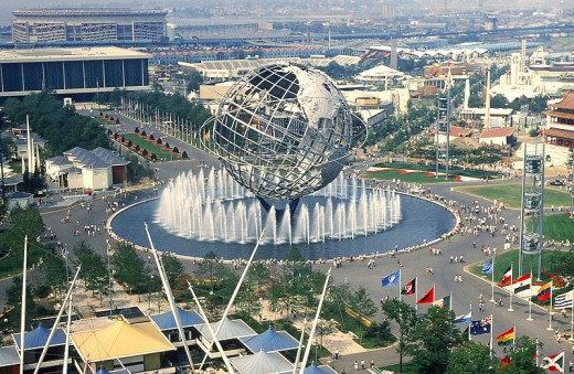 Opening of the 1964/65 New York World's Fair in Flushing Meadow, NY.