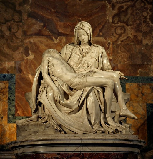 The Pieta, by Michelangelo, which the Vatican sent for its pavilion at the World's Fair.