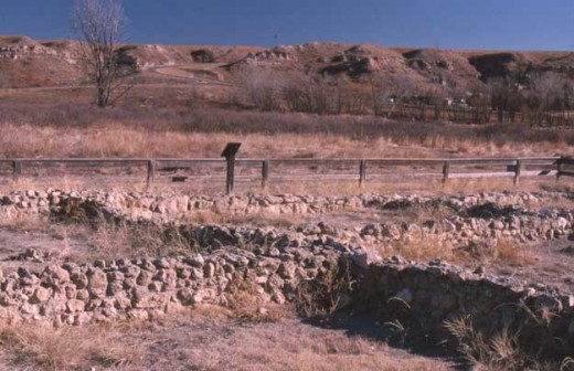 Pueblo ruins at Scott State Park, Kansas.