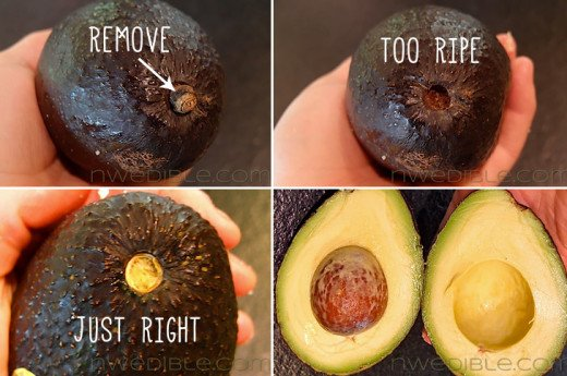Tip: Look under the stem.  If it is green, the avacado is ripe!