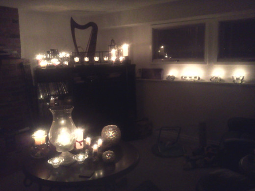 Candles light up my room