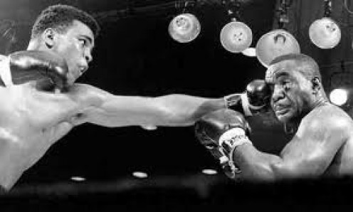 Muhammad Ali used fast, accurate jabs to bust up Sonny Liston's face.