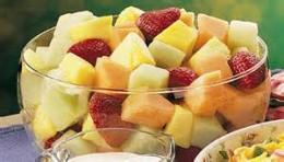 basic melon strawberry fruit salad