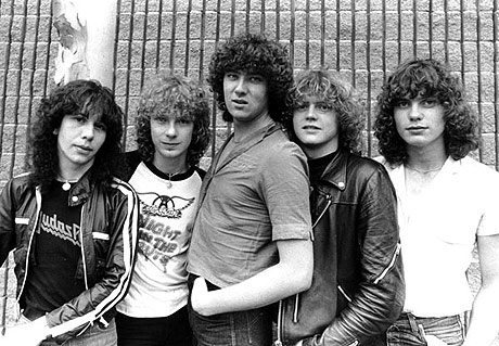 Def Leppard's lineup towards the end of the 70's - beginning of the 80's (Includes Pete Willis).