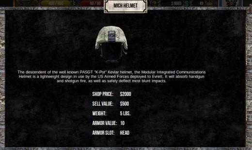 Premium item, Mich Helmet Armor