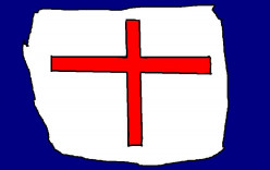 There was the English cross of Saint George.