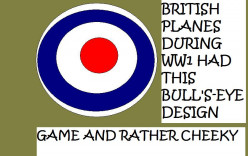 The British bull's eye on planes defied the enemy.