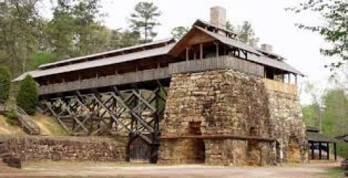 Tannehill Ironworks Historical State Park runs through three Alabama counties and covers over 1,500 acres of land.