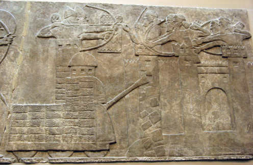 Assyrian Siege Tower with Built-in Battering Ram