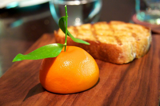 A mandarin? No. It's meat fruit by Heston Blumenthal..