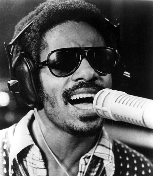 Photo of Stevie Wonder.