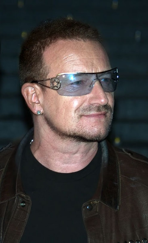 English: Bono at the Vanity Fair kickoff party for the 2009 Tribeca Film Festival.