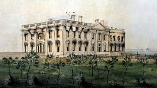 The President's House was burned by the British invaders in August of 1814.