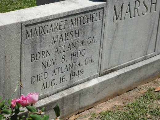 Buried next to her Husband John Marsh. Visitors come from around the world to pay their respects.