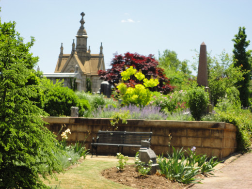 Plants And flowers help make Oakland Cemetery a must see destination for visitors to Atlanta.