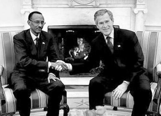 Kagame and Bush