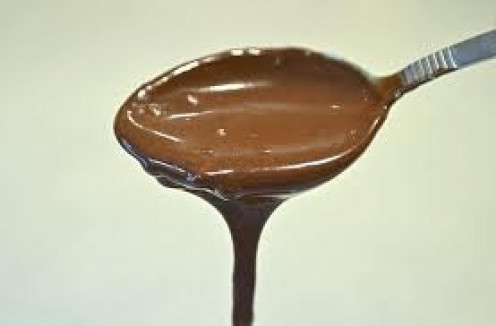 Chocolate sauce can be used with lunch, dinner, breakfast and as a snack.