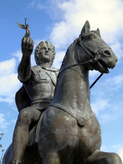 Alexander the Great and his horse Bucephalus