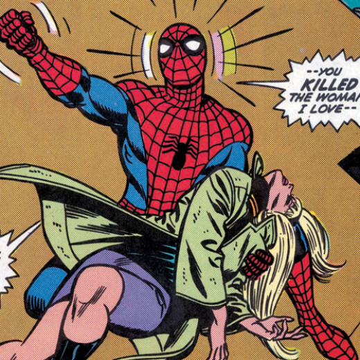 One of the most memorable moments in Spider-Man history.