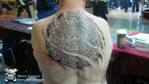 Best Aztec Calendar Tattoo