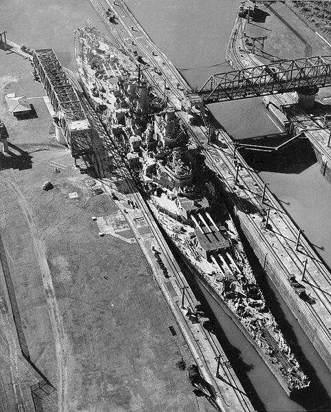 USS Missouri (1945), Panama Canal