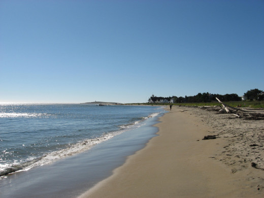 The ever changing beach of Popham Beach by Fort Popham