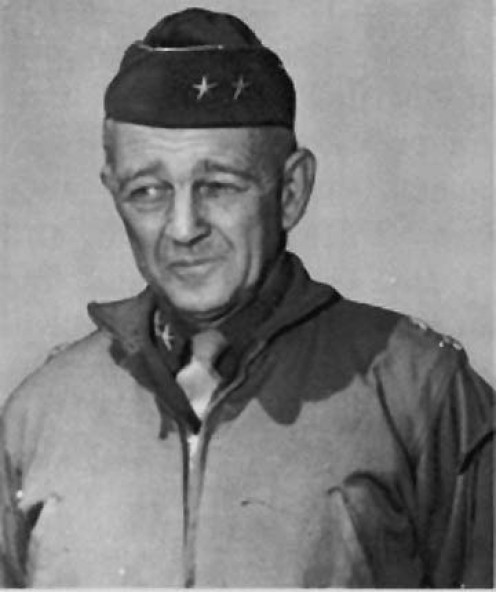 Major General Hugh Gaffey. Patton's former chief of staff who became the CO of the 4th AD.