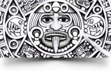Aztec Calendar Tattoo Design
