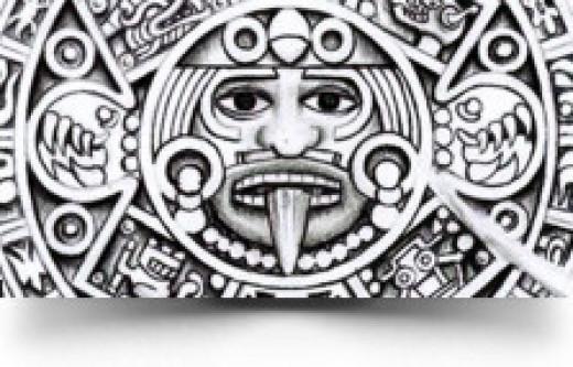 Aztec Calendar Tattoo Design