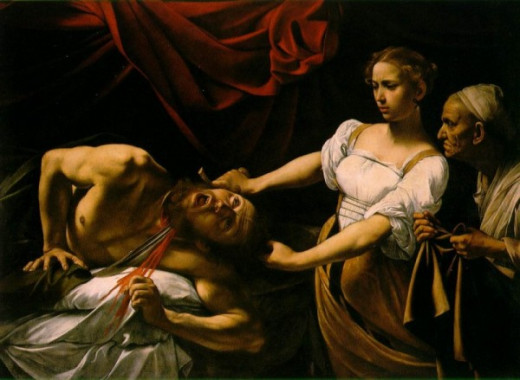 To compare - Judith Decapitating Holofernes by Caravaggio