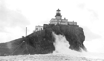 The Tillamook Rock Lighthouse bagan operation on January 21st, 1881
