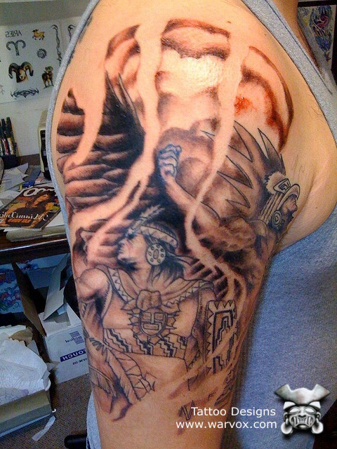 Tattoo Aztec Warrior Spirit