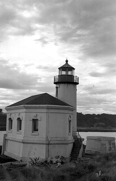 """Originally named Bandon Light, Coquille River Light was commissioned in 1895. First lit on February 29, 1896, the light guided mariners past the dangerous shifting sandbars."""