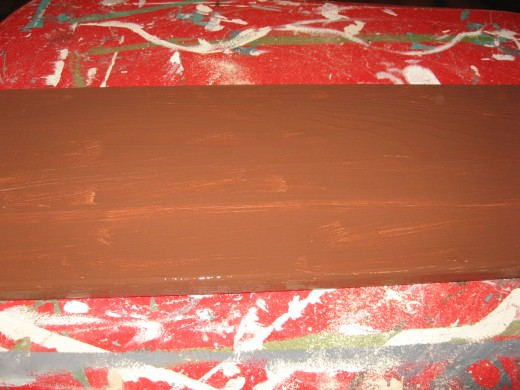 I painted the board brown.