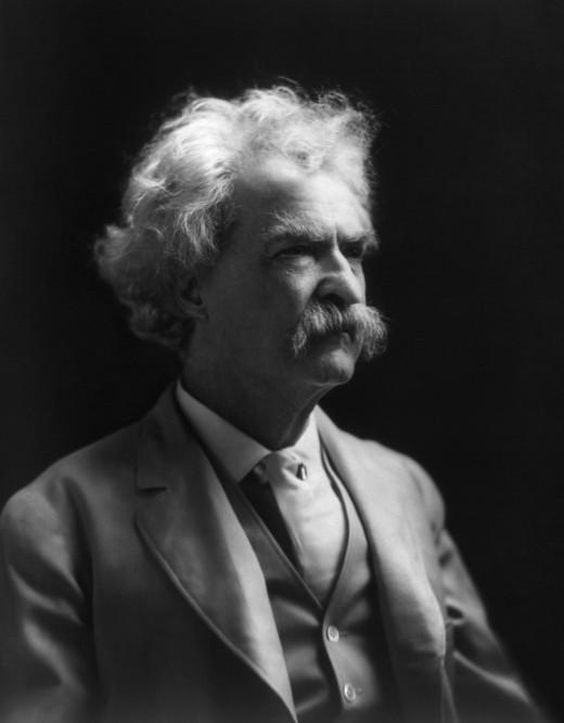 Mark Twain, acclaimed author of many classics