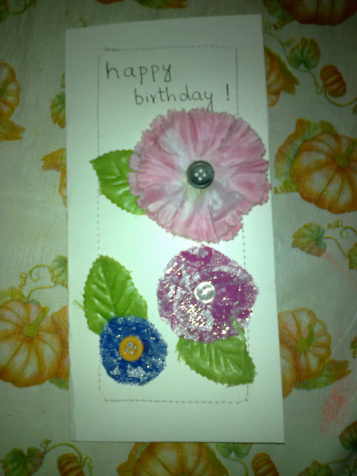 Cloth Flower Card