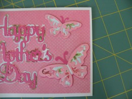 Adhered Butterflies to card