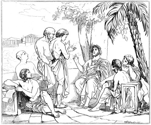 Plato teaching at The Academy