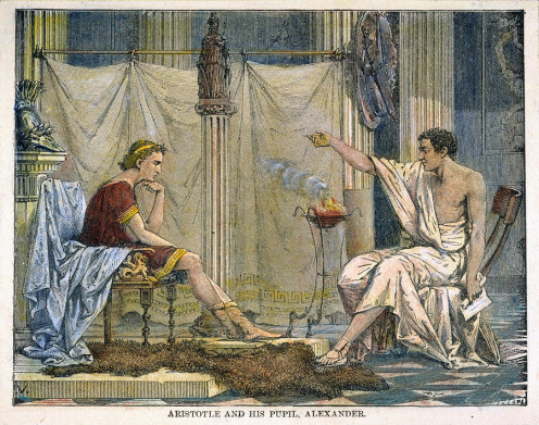 Aristotle teaching Alexander III of Macedon