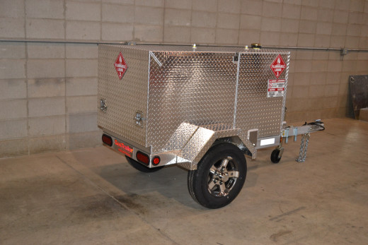 The Pro 110 Industrial is an example of a mobile fuel trailer that has an electric fuel pump.