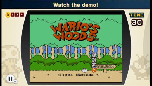 Yeah you have to watch Wario Woods title screen, and demo has your first challenge zzzzzzzz.