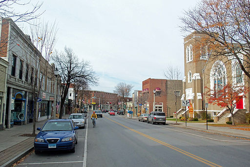 A view of the main street (Rt. 9) in Bennington, VT.