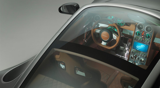 A glimpse into the aerospace-inspired interiors of the Spyker B6 Venator Concept